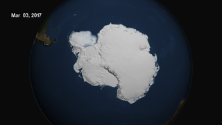 Link to Related Story entitled: Minimum Antarctic Sea Ice 2017