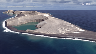Link to Related Story entitled: New island forms in Tonga