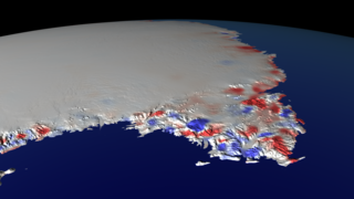 Link to Recent Story entitled: 25 Years of Antarctic Land Ice Elevation Change Anomalies (East Coast Fly Over)
