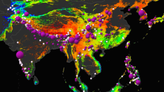 Link to Related Story entitled: Close-up Views of the Global Landslide Hazard Assessment Model (LHASA) overlaid with Global Landslide Catalog (GLC) data