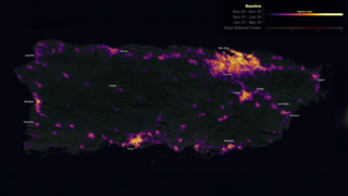 Link to Recent Story entitled: NASA's Black Marble night lights used to examine disaster recovery in Puerto Rico