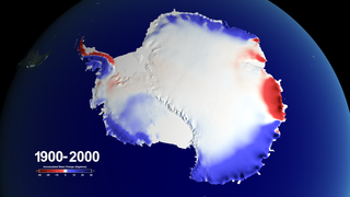 Link to Related Story entitled: 100 Years of Accumulated Mass Change over Antarctica