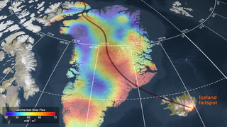 Link to Recent Story entitled: Geothermal Heat Flux Reveals the Iceland Hotspot Track underneath Greenland