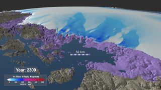 Link to Recent Story entitled: Northeast Regional View of Three Simulated Greenland Ice Sheet Response Scenarios: 2008 - 2300