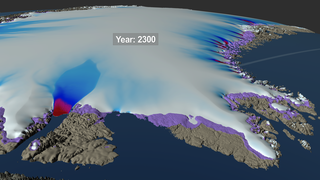 Link to Recent Story entitled: Northwest Regional View of Three Simulated Greenland Ice Sheet Response Scenarios: 2008 - 2300