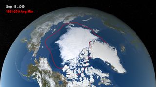 Link to Recent Story entitled: Arctic Sea Ice Minimum 2019