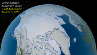 Link to Recent Story entitled: Arctic Sea Ice Maximum 2020