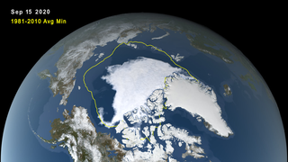 Link to Recent Story entitled: Arctic Sea Ice Minimum 2020