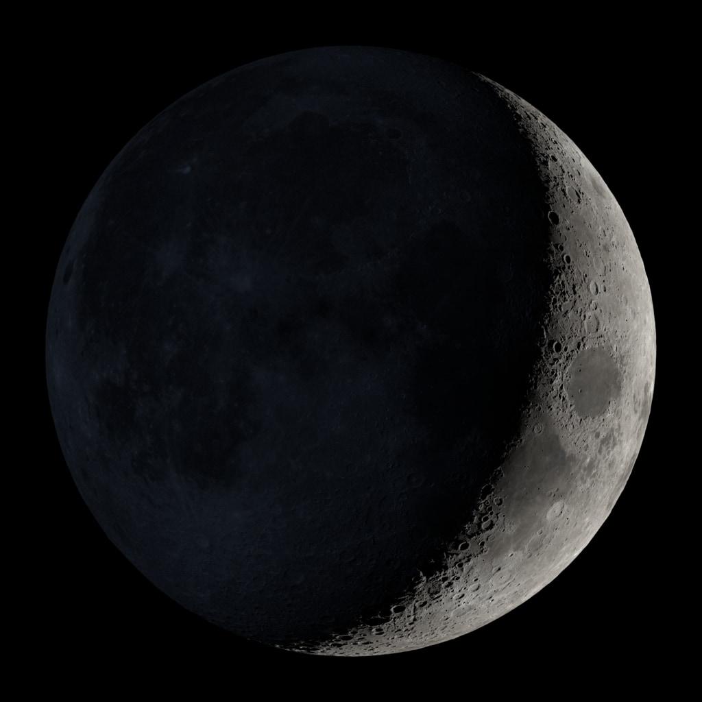 The Waxing Crescent Moon. NASA