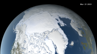 Link to Recent Story entitled: Arctic Sea Ice Maximum 2021