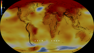 Link to Recent Story entitled: Global Temperature Anomalies from 1880 to 2020