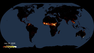 Link to Recent Story entitled: Active Fires As Observed by VIIRS, 2020