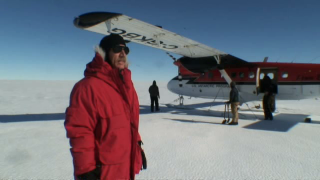 As you can see from this short video, the logistics of setting foot on the Pine Island Glacier ice shelf turned out to be a real challenge and the first trip had both its ups and its downs.  Nonetheless, Bindschadler welcomes the challenge and has high hopes for what his continued research on Pine Island might uncover. For a complete transcript of this video, please click here