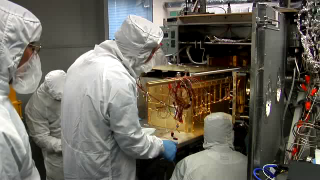 BROADCAST-QUALITY FOOTAGE: B-roll of the fully-integrated SAM suite being placed into the Mars Environment Chamber, where it will undergo testing in simulated space and Mars atmospheric environments. HD footage codec: DVCPROHD 100 SD footage codec: DVCPRO