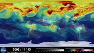 Link to Recent Story entitled: NASA On Air: NASA's Carbon Dioxide Plumes - World Map (11/21/2014)