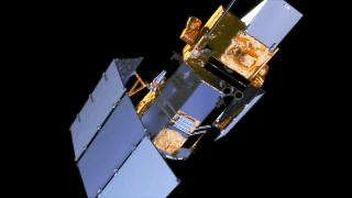 Glory satellite solar array deployment.