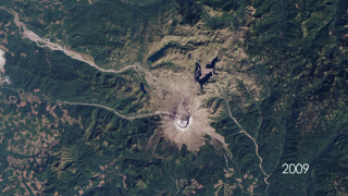 Thirty years ago, Mount St. Helens roared back into major activity with a massive eruption that leveled surrounding forest, blasted away over a thousand feet of the mountain's summit, and claimed 57 human lives. This short video shows the catastrophic eruption - and the amazing recovery of the surrounding ecosystem - through the eyes of the Landsat satellites, which have been imaging our planet for almost forty years.