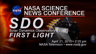 The full SDO First Light press conference in HD.