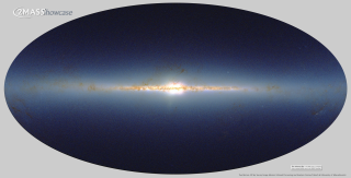 This all-sky view of the infrared sky from the Two Micron All-Sky Survey (2MASS) serves as the background for the Swift 500 GRB map and animation. http://www.ipac.caltech.edu/2mass/gallery/showcase/allsky/index.html . The plane of our galaxy, the Milky Way, runs horizontally through the middle of the map. Each color represents the local density of stars seen in each of the survey's three infrared bands. Nearly 100 million stars appear in the image. Credit: 2MASS/J. Carpenter, M. Skrutskie, R. Hurt