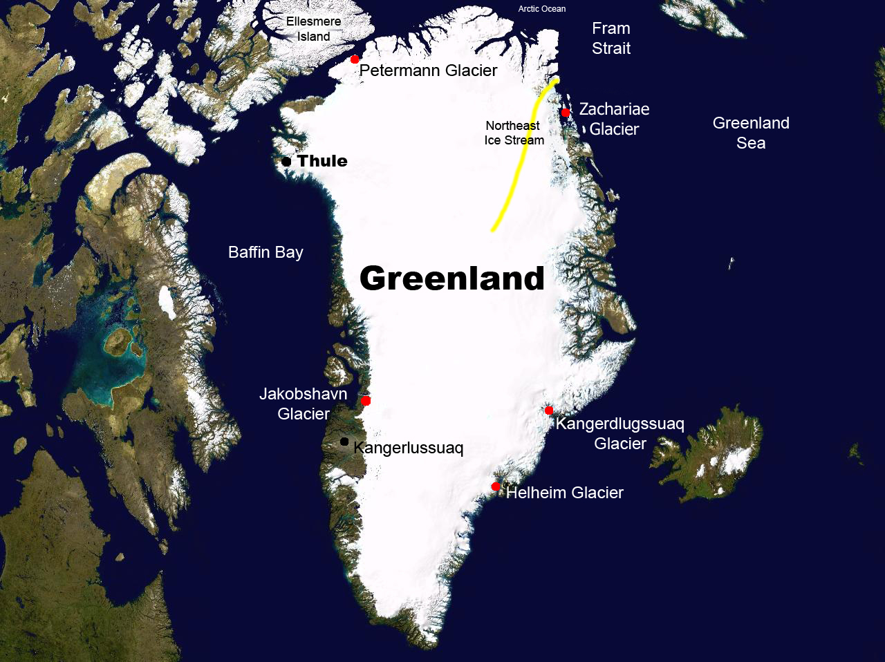 GMS Map Of Greenland - Map of greenland
