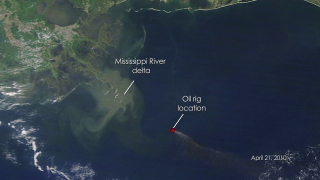 Satellite View of the Gulf of Mexico's Oil Spill