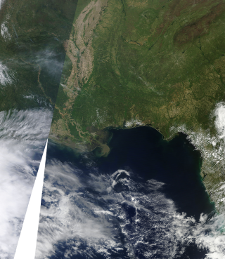 Terra Satellite view of the Oil Spill in the Gulf of Mexico. April 12, 2010