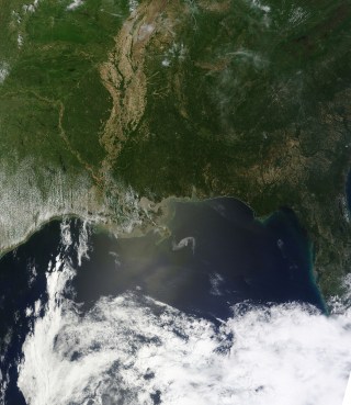 Terra Satellite view of the Oil Spill in the Gulf of Mexico. April 29, 2010