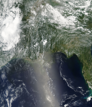 Aqua Satellite view of the Oil Spill in the Gulf of Mexico. June 10, 2010