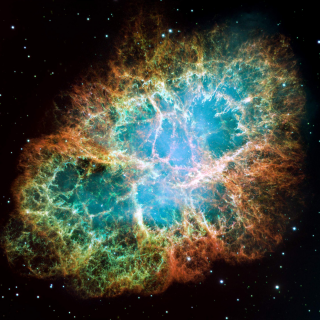 This view of the Crab Nebula in visible light comes from the Hubble Space Telescope and spans 12 light-years. The supernova remnant, located 6,500 light-years away in the constellation Taurus, is among the best-studied objects in the sky. Credit: NASA/ESA/ASU/J. Hester