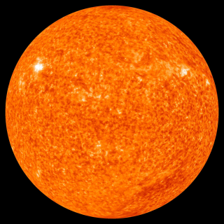 View of the sun in 304 Angstrom ultraviolet from STEREO.