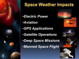 The need for space weather services has grown significantly in past years as the technology we rely on for everyday life has become increasingly vulnerable to space weather. America's vulnerability to space weather is rising fast as our national and global critical technology infrastructure becomes more complex and dependent on advance technology. These recent advances in our technological infrastructure drive emerging space weather service needs undreamed of just a decade ago. Our advanced technological infrastructure will face challenges from the increase in solar activity and are being addressed at the highest levels of government.Credit: NOAA Space Weather Prediction Center