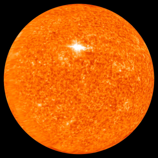 View of the sun in ultraviolet primarily from STEREO B showing an active region not visible from Earth.