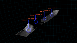 Animation depicting various methods of obtaining a 3D map of the moon's surface. Methods shown include estimation of height based on shadows, stereoscopic photography, and finally, LIDAR measurement.