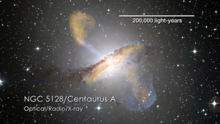 Short video about Centaurus A jets.