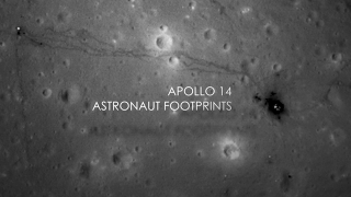 Visualization of astronaut footprints around the Apollo 14 site as seen by the Lunar Reconnaissance Orbiter Camera (LROC).