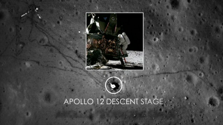 Short video with music showing the new images and identifying important features of the Apollo missions.