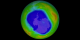 As the sun rises over Antarctica, the yearly ozone hole begins to form.