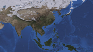 The Himalayan and Tian Shan mountain ranges, as well as much of Siberia, had a heavy coat of snow on Feb. 28, 2010.