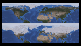 The difference in the Northern Hemisphere's minimum and maximum snow cover drastically alters the reflectivity of the Earth.