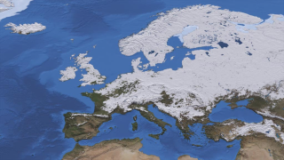 A massive snowstorm covered much of continental Europe and the United Kingdom on Dec. 29, 2010.