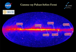 Before the launch of Fermi in 2008, astronomers knew of only seven gamma-ray pulsars. These include the famous objects in the Crab Nebula and Vela supernova remnants, as well as Geminga (pronounced