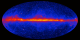 Fermi's view of the gamma-ray sky continually improves. This image of the entire sky includes three years of observations by Fermi's Large Area Telescope (LAT). It shows how the sky appears at energies greater than 1 billion electron volts (1 GeV). Brighter colors indicate brighter gamma-ray sources. A diffuse glow fills the sky and is brightest along the plane of our galaxy (middle). Discrete gamma-ray sources include pulsars and supernova remnants within our galaxy as well as distant galaxies powered by supermassive black holes.   Credit: NASA/DOE/Fermi LAT Collaboration