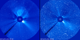 SOHO view of M9 flare. Credit: SOHO/ESA & NASA