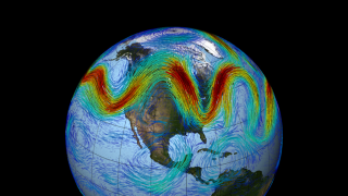 The polar jet stream is strongest in winter when the temperature difference between warm and cold air in the Northern Hemisphere is at its highest.