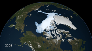 Scientists were stunned in 2008, when the area of older, thicker sea ice area reduced to 55 percent of its average since the late 1970s.