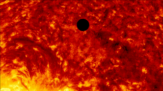 Collection of SDO footage of transit in multiple wavelengths set to music.  The music track is