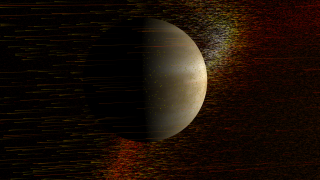 A coronal mass ejection passes Venus.
