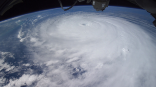 Hurricane Rita makes its way toward the Texas coast in Sep. 2005, as seen from the International Space Station.
