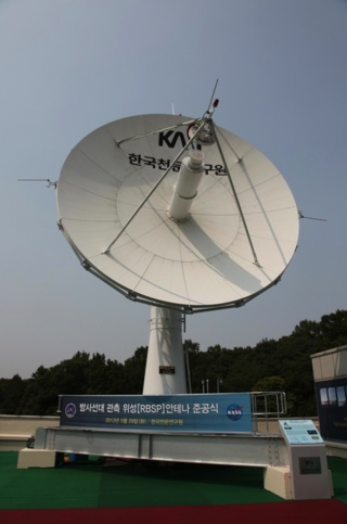 KASI (Korea Astronomy and Space Science Institute) ground receiver built for receiving data from NASA's RBSP mission Space weather broadcast. Credit: Korea Astronomy and Space Science Institute (KASI)