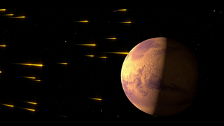 PLASMA PROCESSES Mars's thick early atmosphere was likely lost to space, and the Sun is a potential culprit.  When high-energy solar photons strike the upper Martian atmosphere they can ionize gas molecules, causing the atmosphere to erode over time.